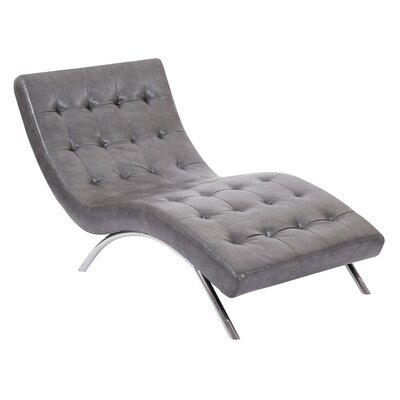 Blake Tufted Chaise Lounge Upholstery: Pewter