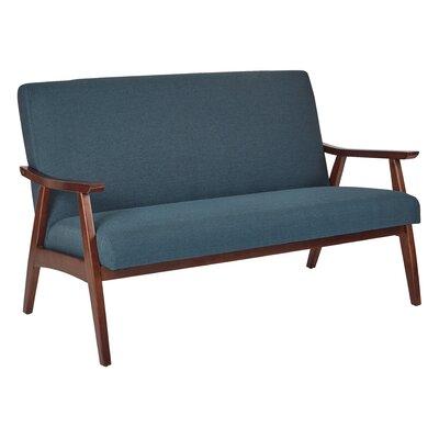 Davis Loveseat Upholstery: Klein Azure