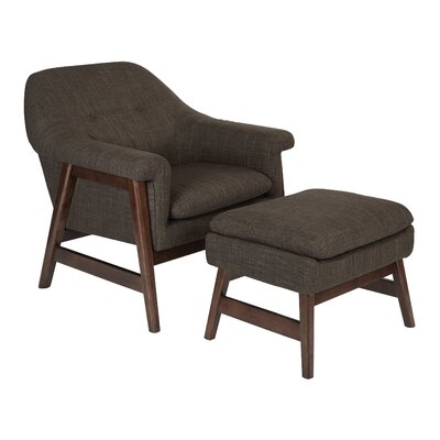 Flynton Lounge Chair and Ottoman Upholstery: Taupe