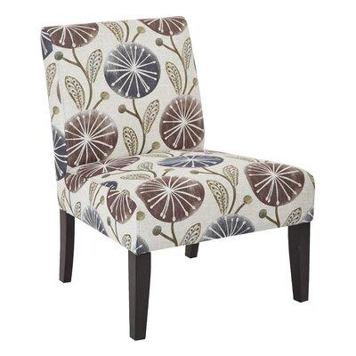 Barhill Patterned Slipper Chair Upholstery: Dandelion Plum Fabric