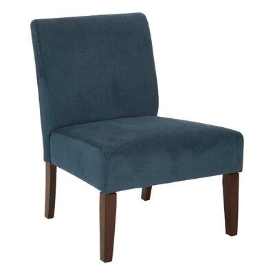 Baronets Slipper Chair Upholstery: Azure Velvet