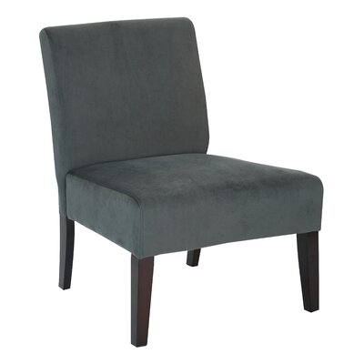 Baronets Slipper Chair Upholstery: Graphite Velvet