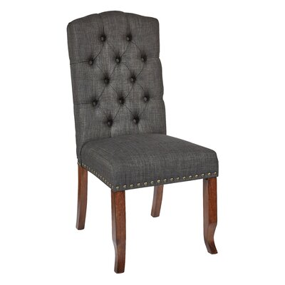 Jessica Side Chair Upholstery: Charcoal