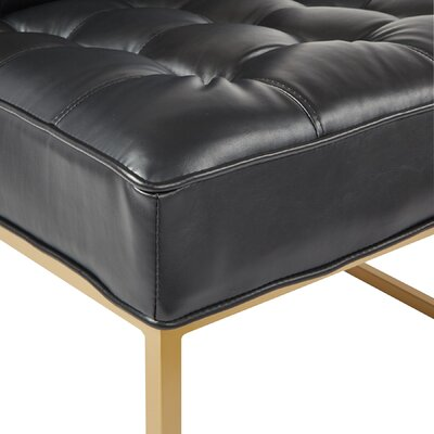 Aldgate Slipper Chair Upholstery: Black, Finish: Gold