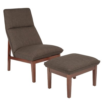 Cameron Lounge Chair and Ottoman Upholstery: Taupe