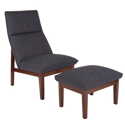 Cameron Lounge Chair and Ottoman Upholstery: Navy