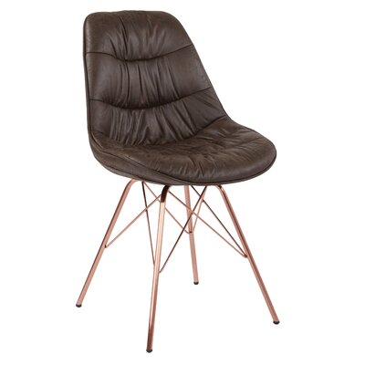 Langdon Side Chair Upholstery: Brown