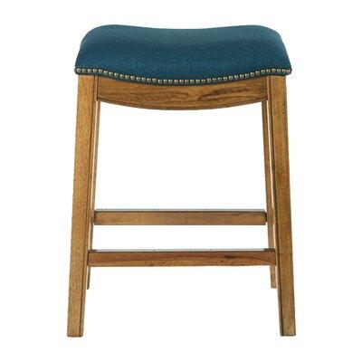 Martinez 26.25 Bar Stool Upholstery: Klein Azure