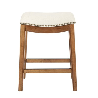 Martinez 26.25 Bar Stool Upholstery: Linen