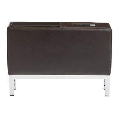 Melodee Charging Center Console Table Finish: Espresso