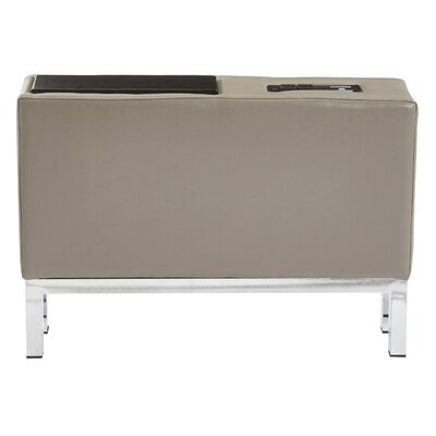 Melodee Charging Center Console Table Finish: Smoke