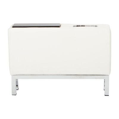 Melodee Charging Center Console Table Finish: White