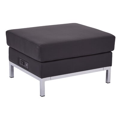 Olen Powered Ottoman Upholstery: Black