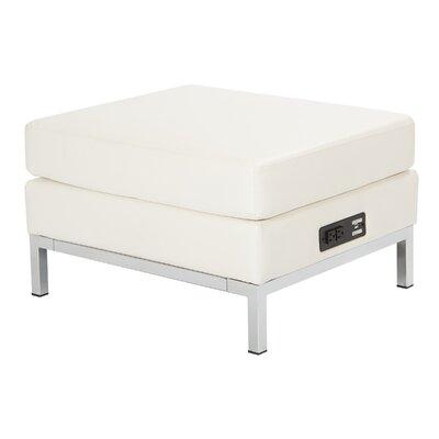 Olen Powered Ottoman Upholstery: White