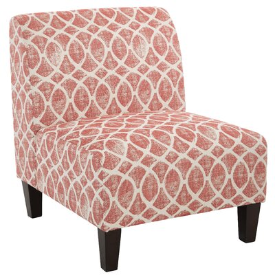 Abramowitz Slipper Chair Upholstery: Brick