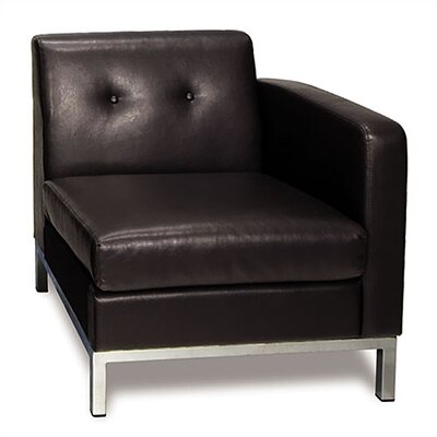 Wall Street Left Chair Color: Espresso Product Picture 8287