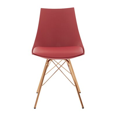 Maynard Upholstered Dining Chair Color: Rose/Gold