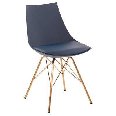 Maynard Upholstered Dining Chair Color: Navy