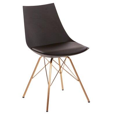 Maynard Upholstered Dining Chair Color: Black