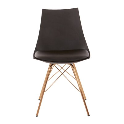 Maynard Upholstered Dining Chair Color: Black