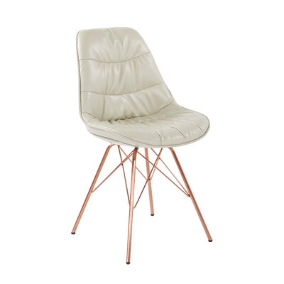 Langdon Side Chair Upholstery: Cream