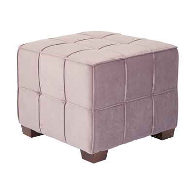 Mirryah Tufted Ottoman Upholstery: Mauve