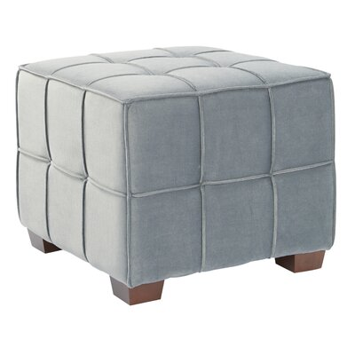 Mirryah Cube Ottoman Upholstery: Moonlight Gray
