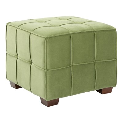 Mirryah Tufted Ottoman Upholstery: Garden Green