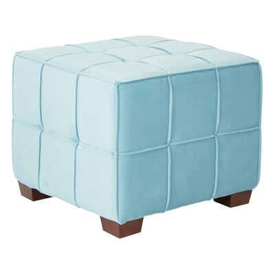 Mirryah Tufted Ottoman Upholstery: Ocean Blue