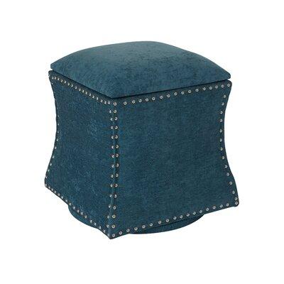 Montriel Swivel Storage Ottoman Upholstery: Sky, Nailhead Detail: Silver