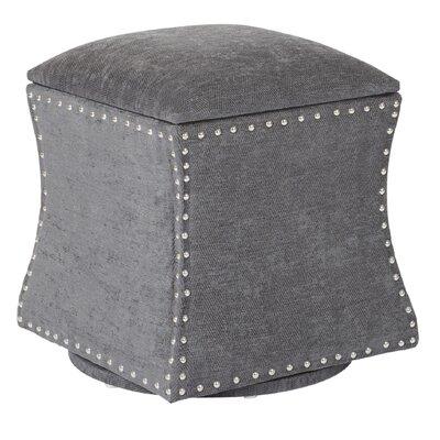 Montriel Swivel Storage Ottoman Upholstery: Charcoal, Nailhead Detail: Silver
