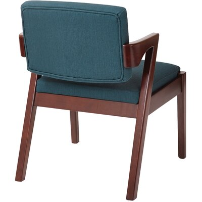 Vandemark Armchair Upholstery: Klein Azure, Finish: Light Cherry