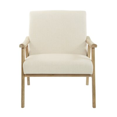 Delasandro Accent Armchair Upholstery: Linen