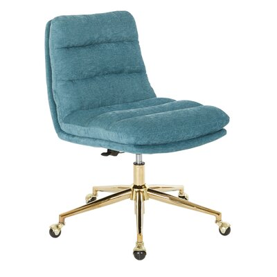 Upholstered Tufted Mid Back Office Chair 833 Image