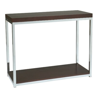 Wall Street Foyer Console Table Finish: Chrome / Espresso