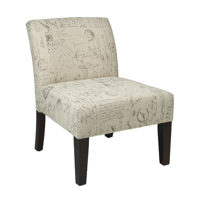 Laguna Fabric Upholstered Side Chair Upholstery: Script