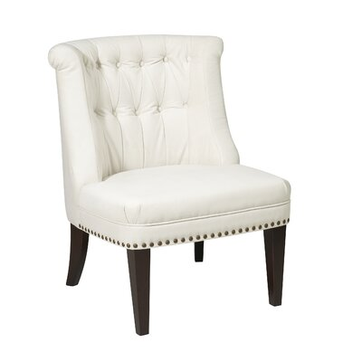 Ventana Slipper Chair Upholstery: Oyster Velvet