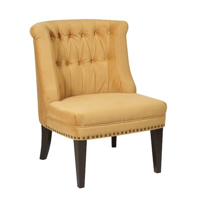 Ventana Slipper Chair Upholstery: Butternut Velvet