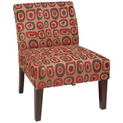 Laguna Upholstered Dining Chair Color: Twilight Red