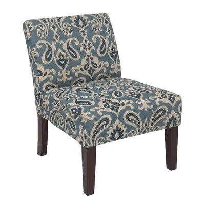 Laguna Upholstered Dining Chair Color: Ikat Blue
