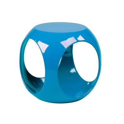 No credit check financing Slick End Table Finish: Blue...