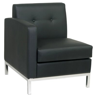 Wall Street Right Chair Color: Black Product Picture 8287