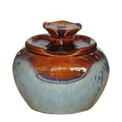 Image of Ceramic Tiered Tabletop Fountain