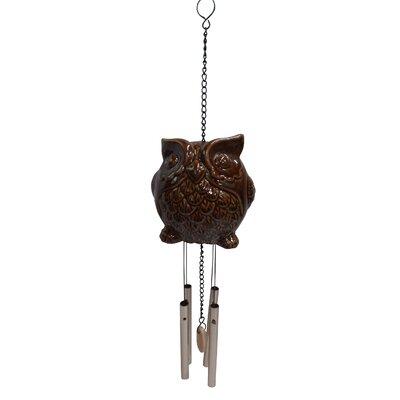 Ceramic Owl Wind Chime KLL110BR