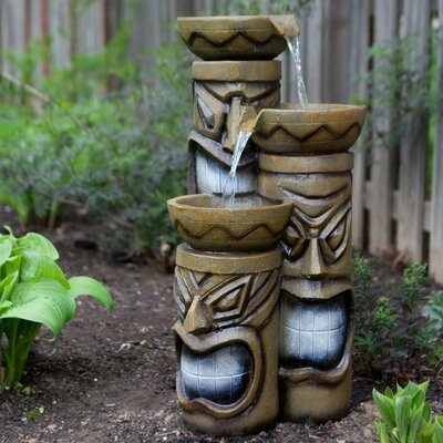 Image of 3 Tiered Tiki Fountain with LED Light