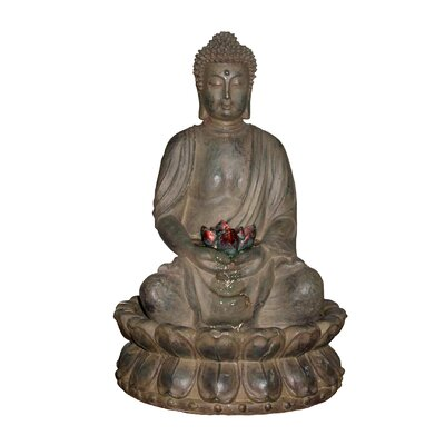 Alpine Tao Buddha Cast Resin Fountain at Sears.com