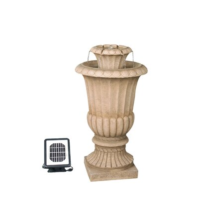 Solar Water 2 Tiered Urn Fountain
