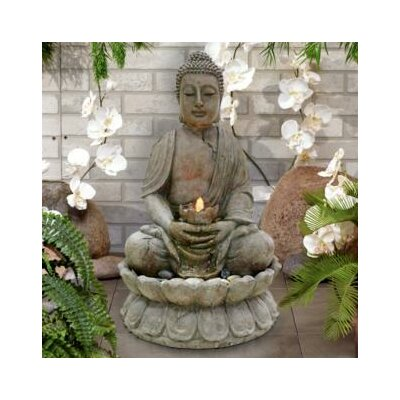 Buddha Fibreglass Serenity Fountain with LED Light GEM122