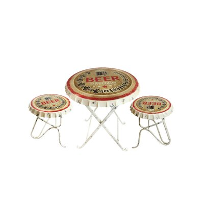 High-class Metal Bottle Cap Bistro Set Product Photo