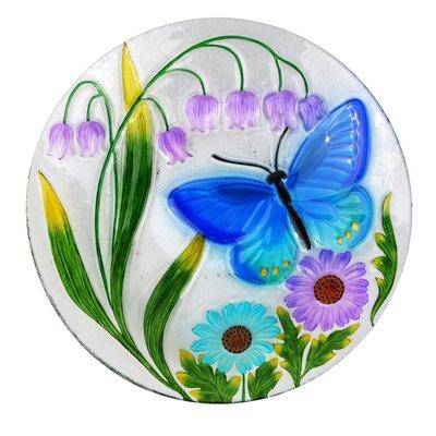 """18"""" Butterfly and Flowers Birdbath KPP506T-18"""